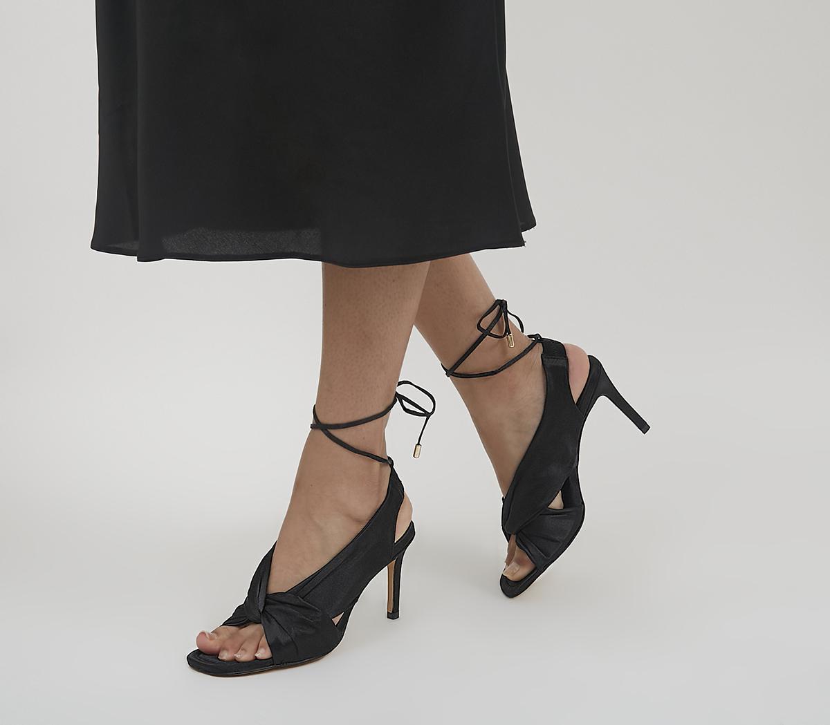 Hardware Twist Slingback Heels