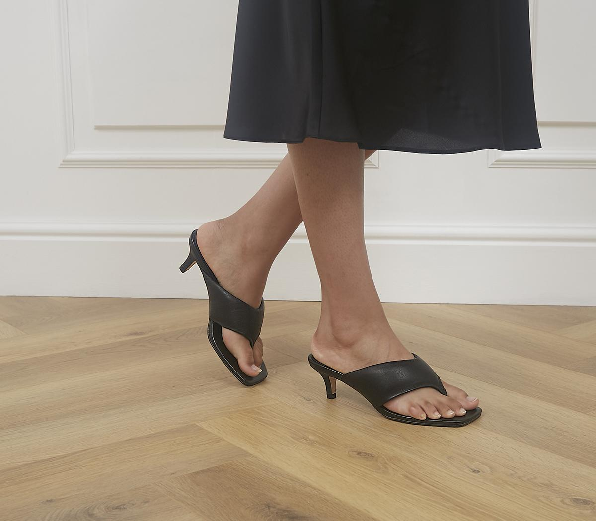 Much Wanted Padded Toe Thong Heels