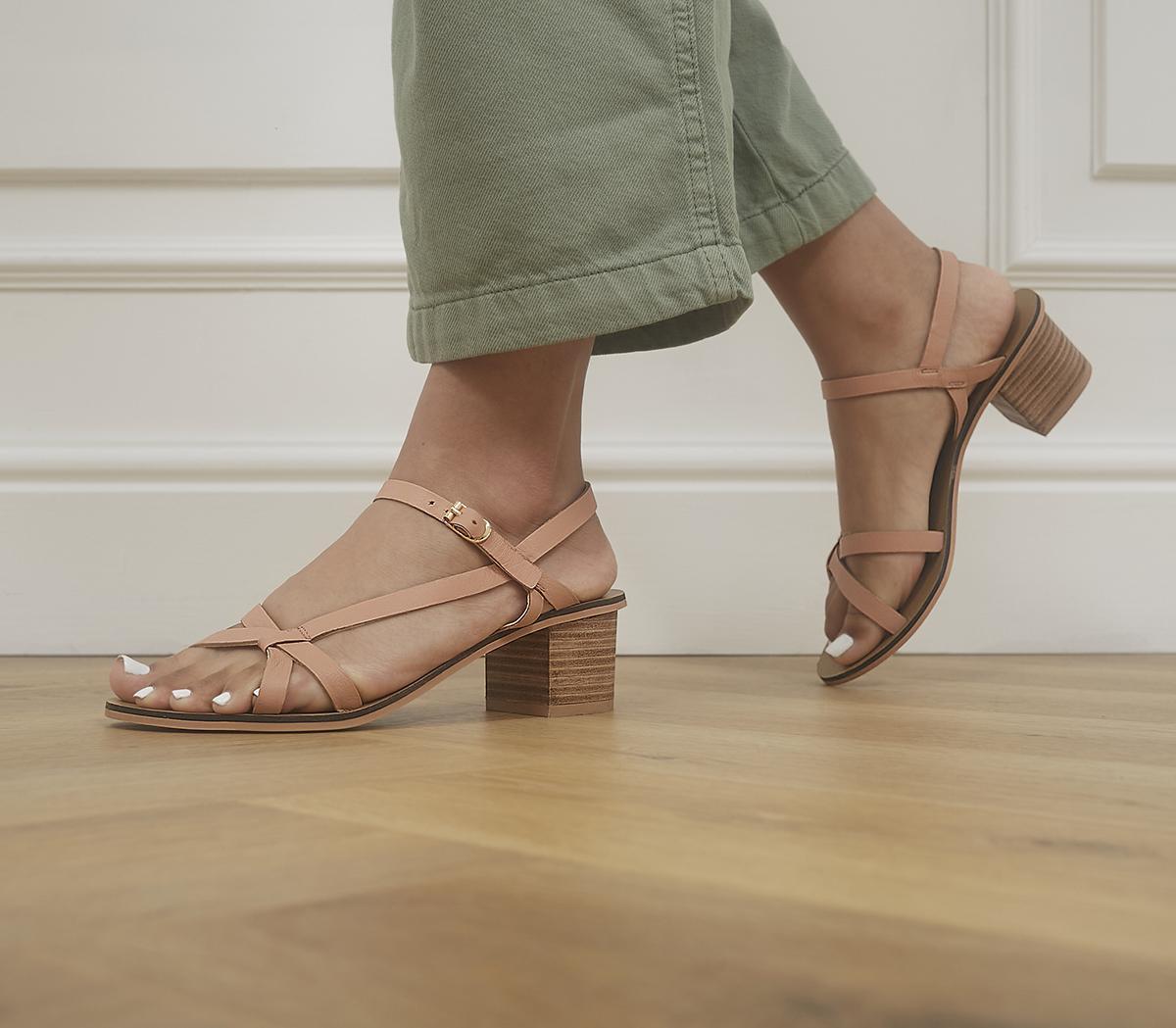 Modern Art Casual Block Sandals