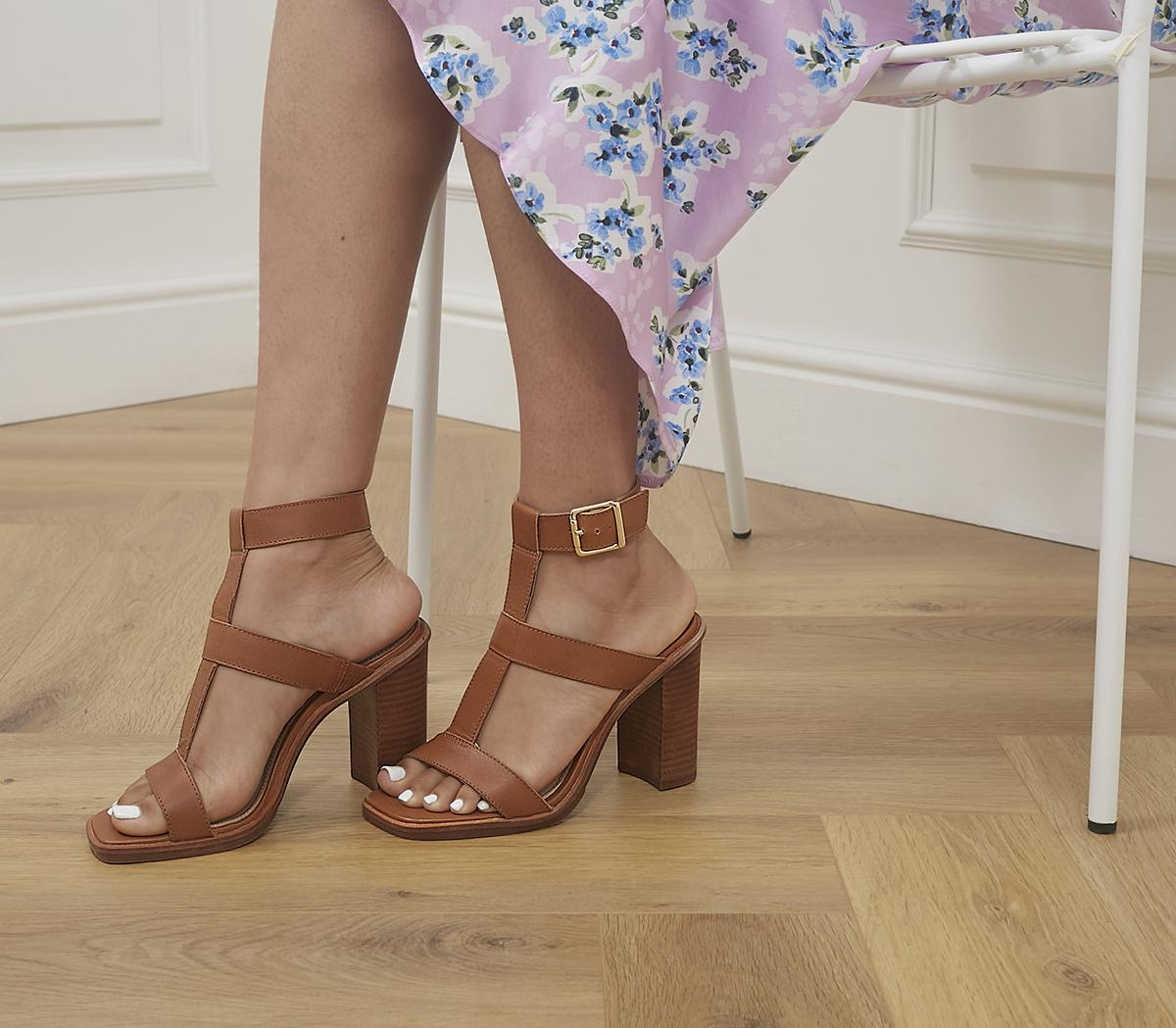 Here And Now Gladiator Block Heels