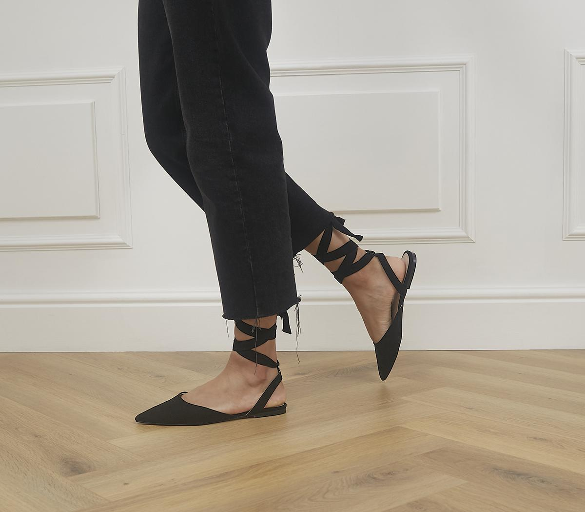 Future Ankle Tie Pointed Flats