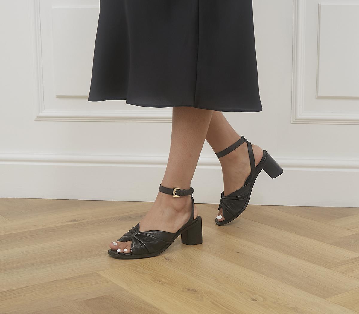 Maggy Pinch Detail Block Heels