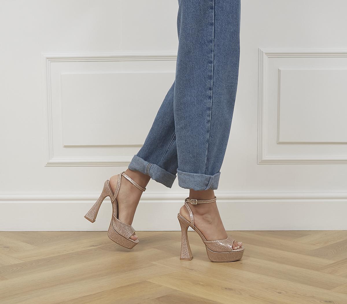 Hague Glitter Platform Heels