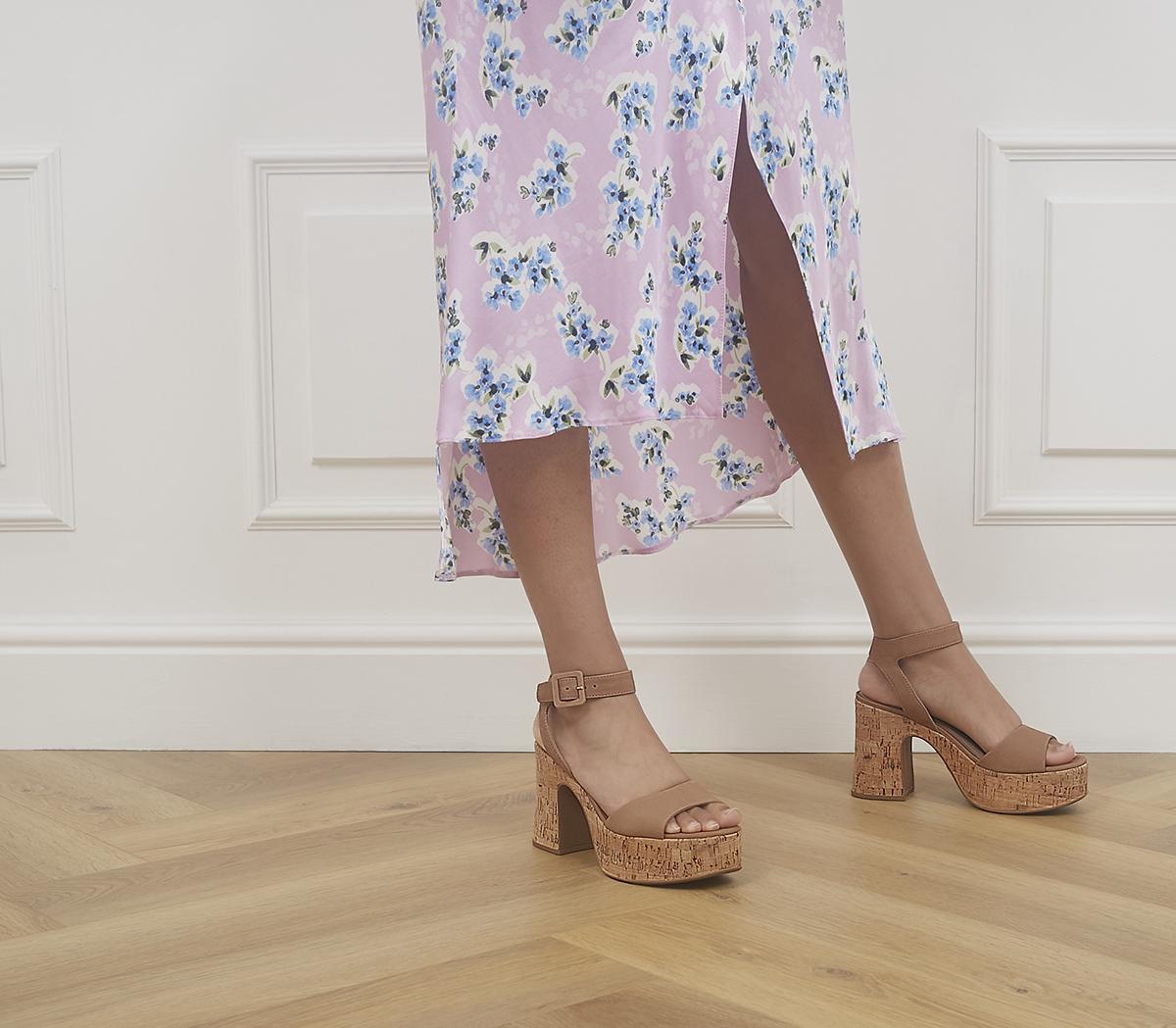 Hilla Cork Platform Heels