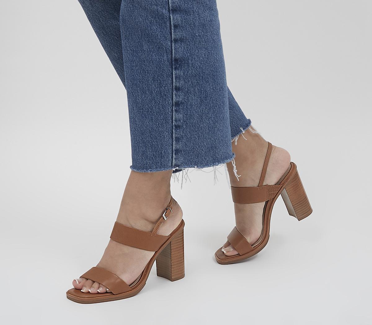 Herat Two Part Sling Back Block Heels
