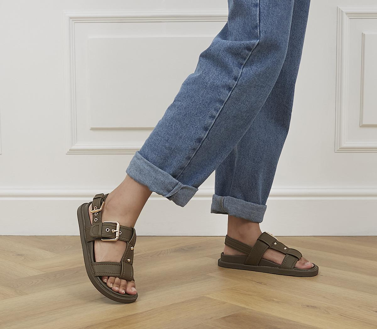 Shade T Bar Buckle Footbed Sandals