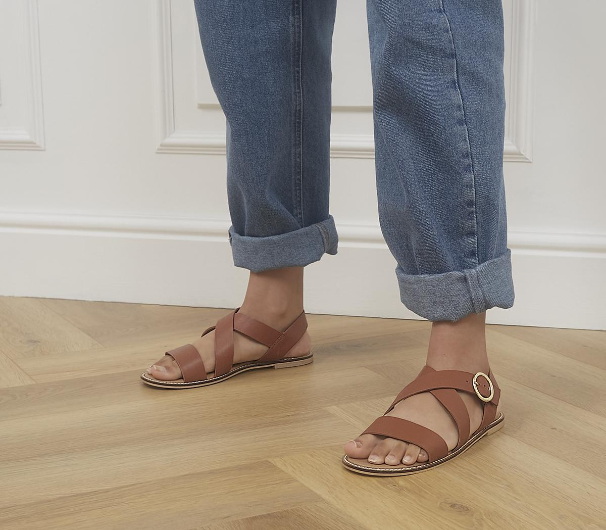 Splendid Cross Strap Sandals