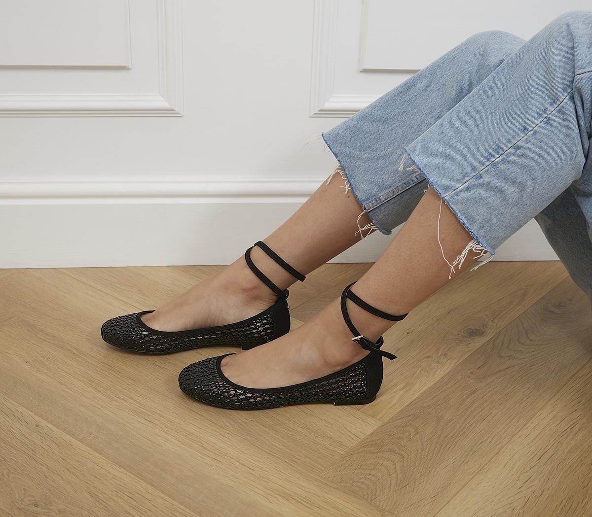 Fiction Ankle Strap Ballerina Pumps