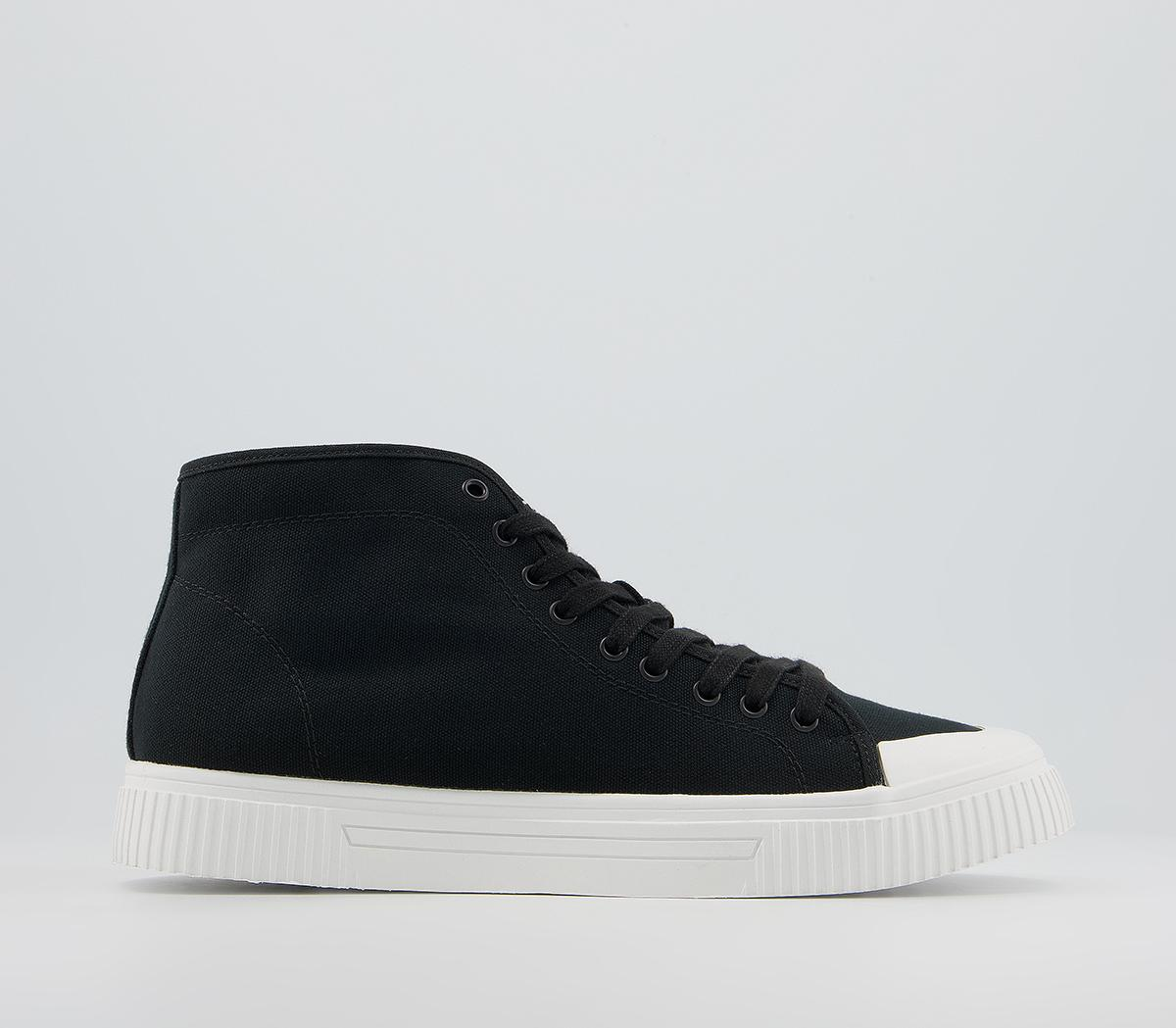 Carmel Canvas Mid Top Trainers