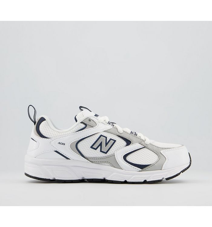 New Balance 408 Trainers WHITE BLACK,White
