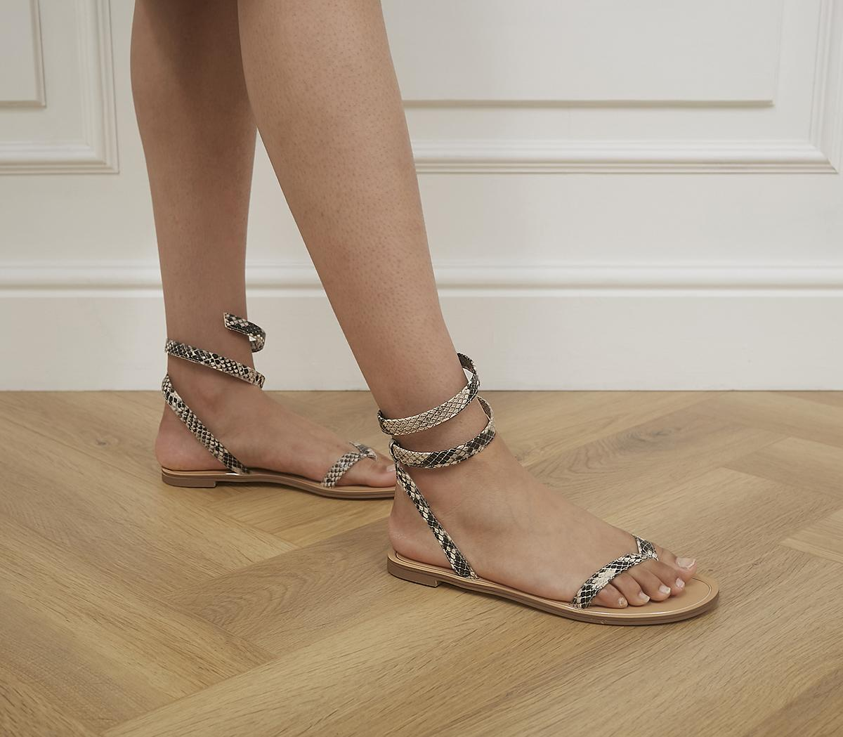Scale Wrap Strap Sandals
