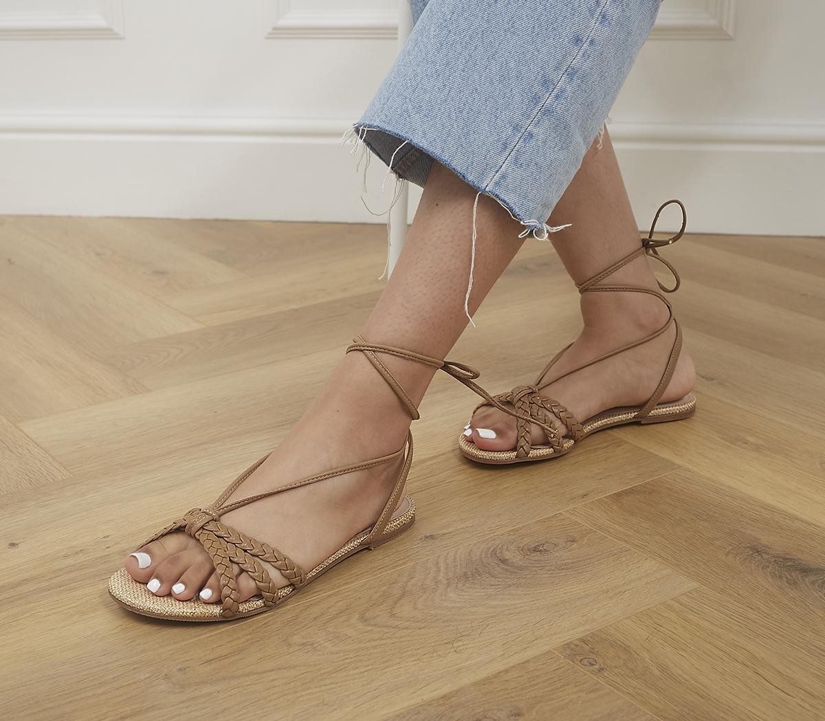 Sublime Plaited Tie Up Sandals