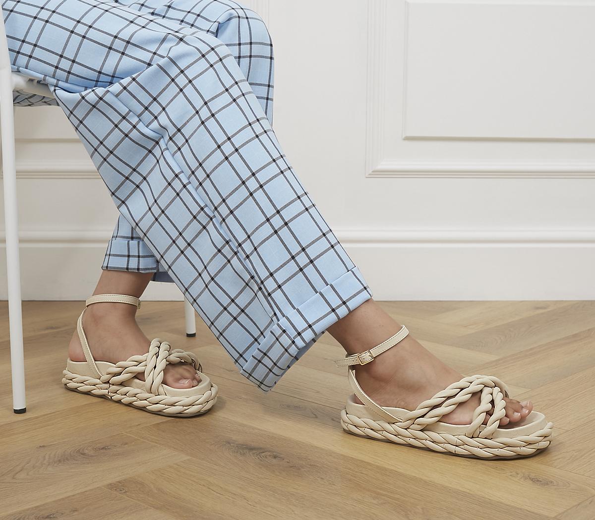 Magnify Rope Flatform Sandals