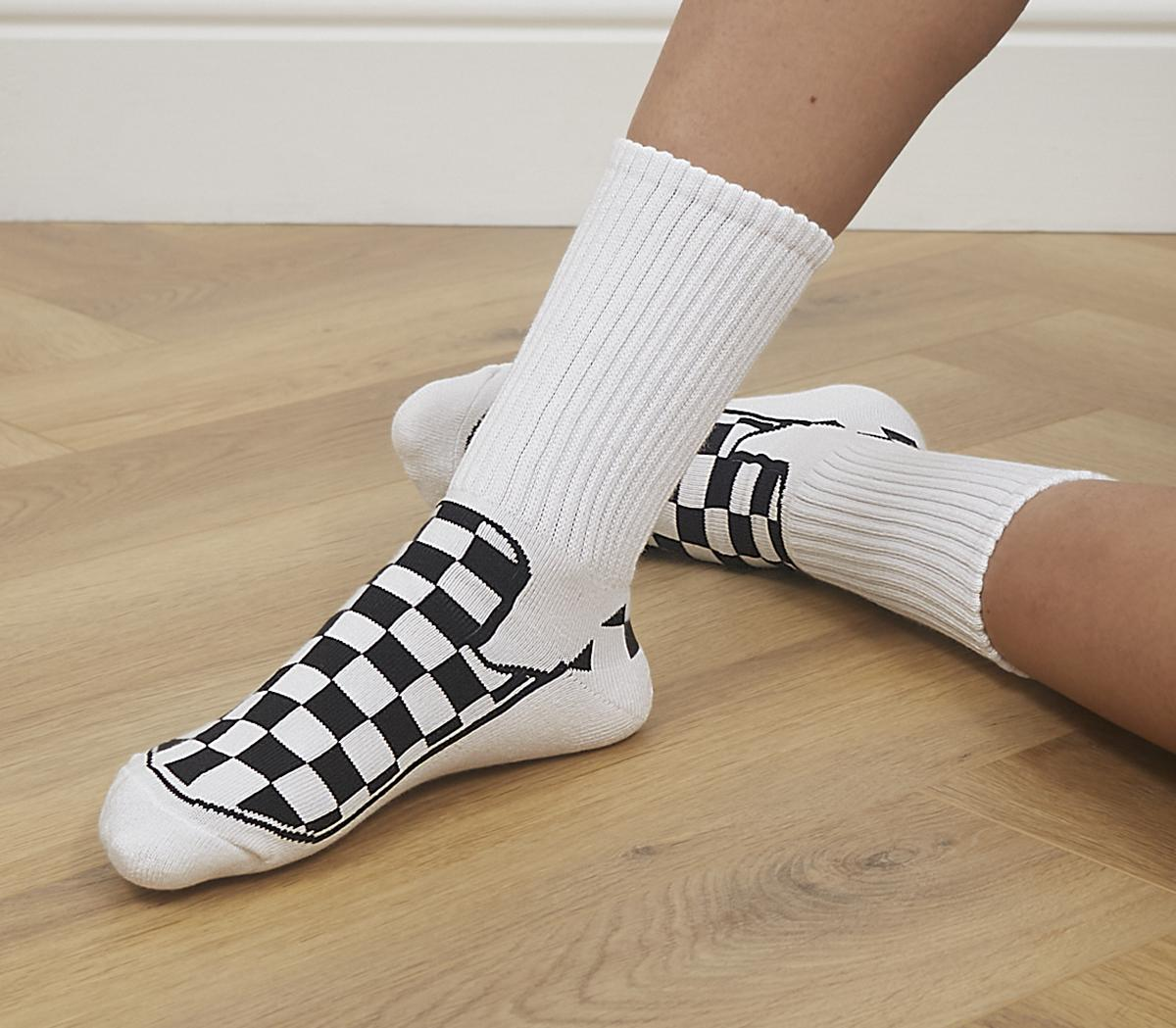 Checkerboard Slip On Socks 1 Pack