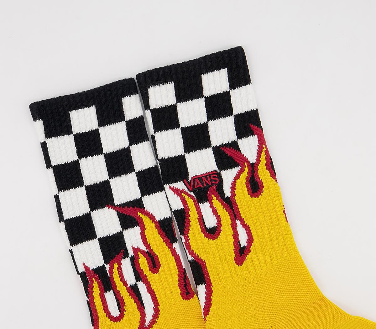 Flame Check Crew Socks