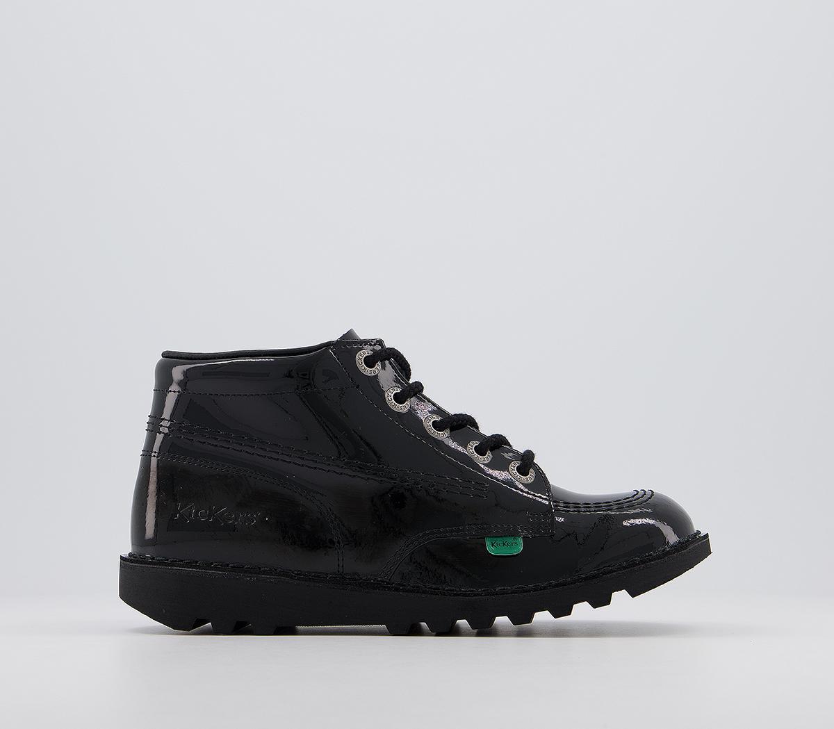Kick Hi Patent Youth Boots