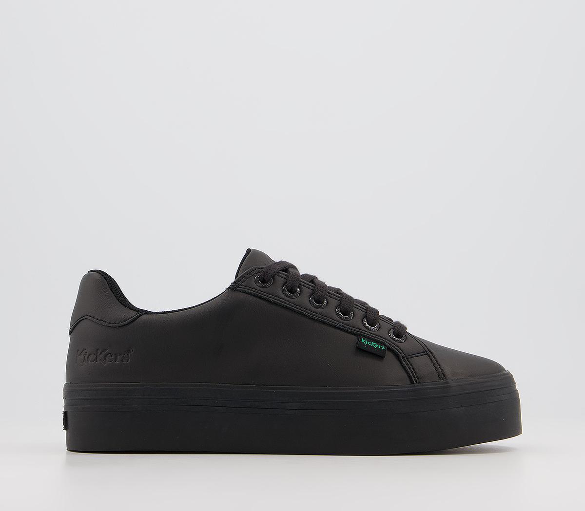 Tovni Platform Leather Youth Shoes