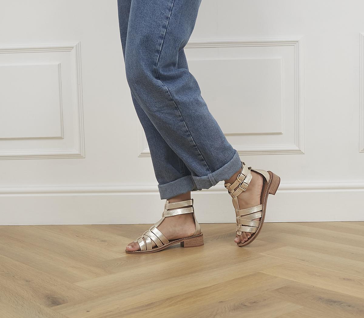 Spectrum Buckle Gladiator Sandals