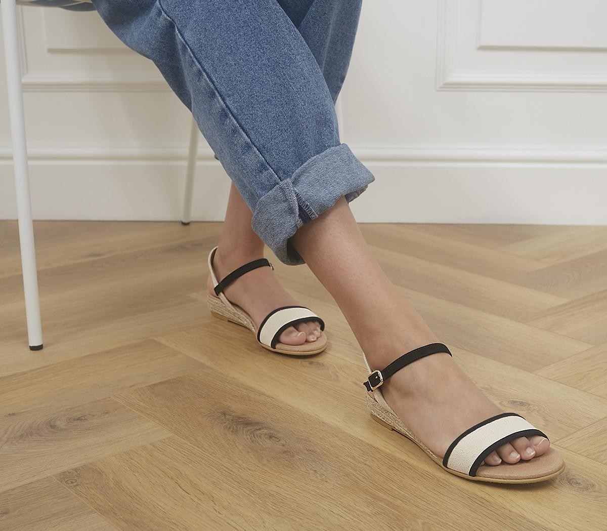 Shaping Two Part Espadrille Sandals