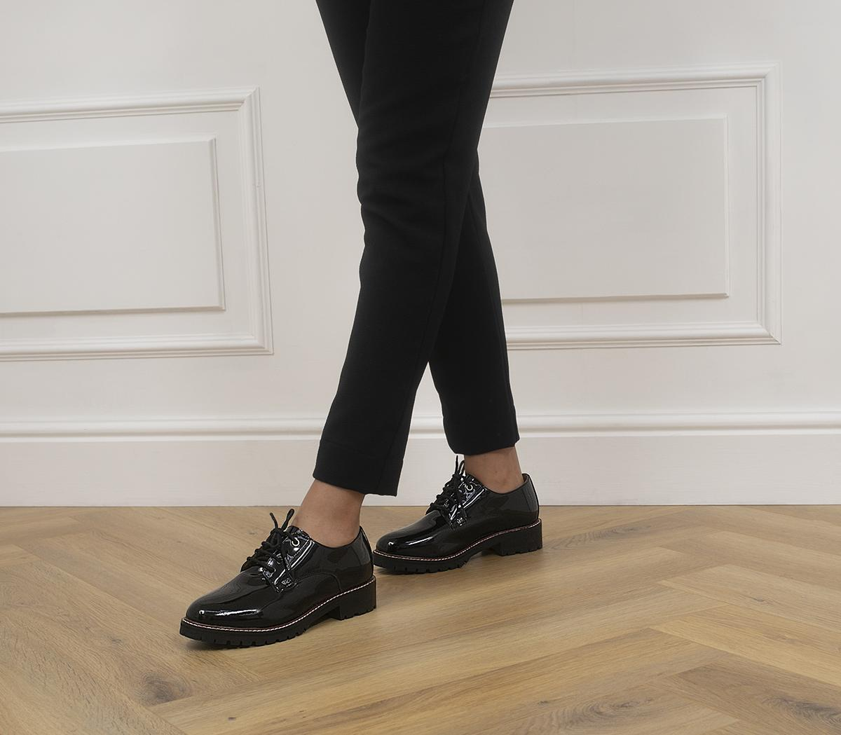 Fractional Chunky Lace Up Flats