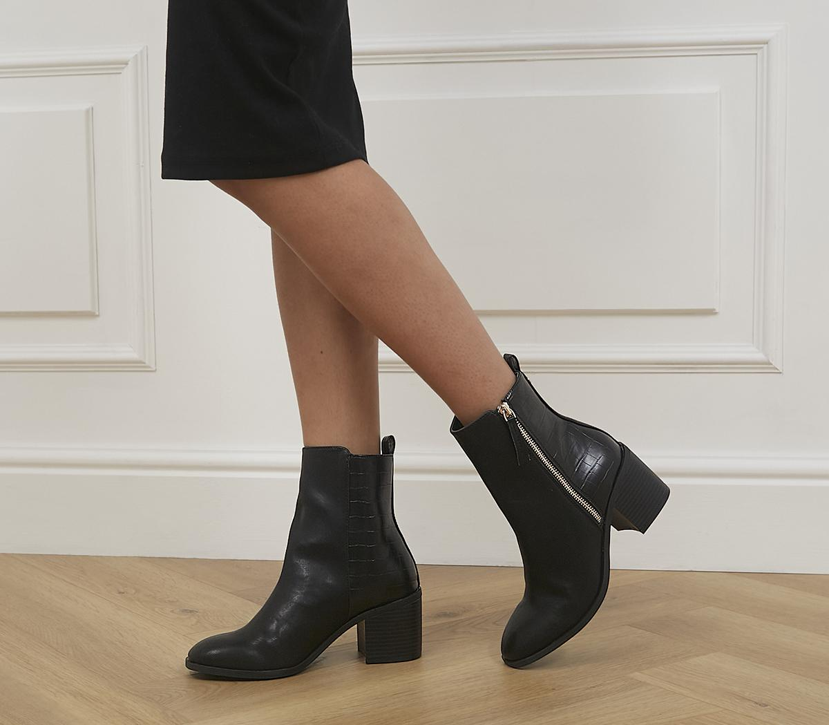 April Side Zip Heeled Boots