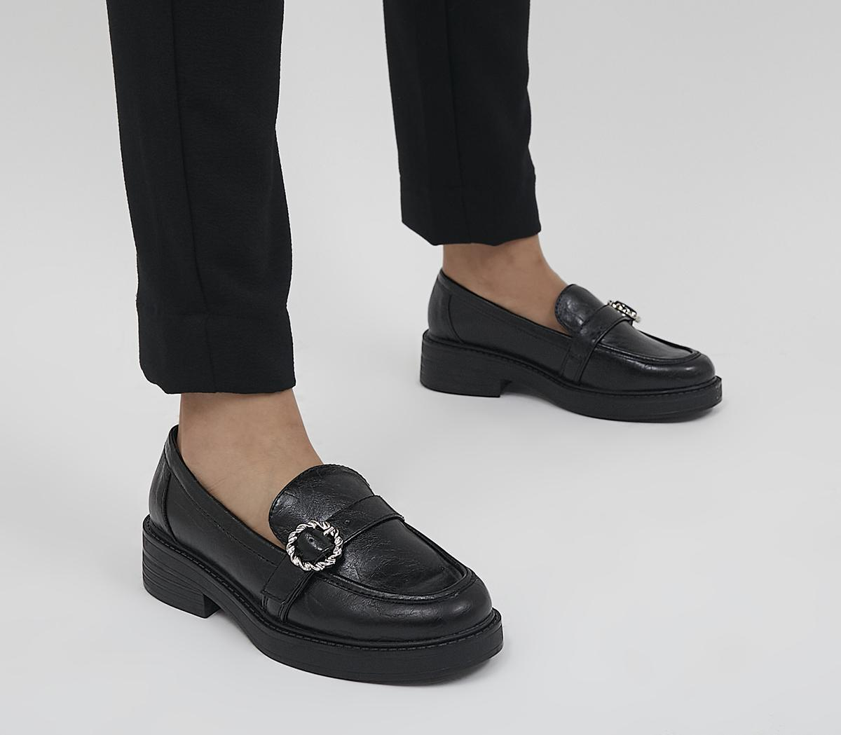 Mackay Buckle Detail Chunky Loafers