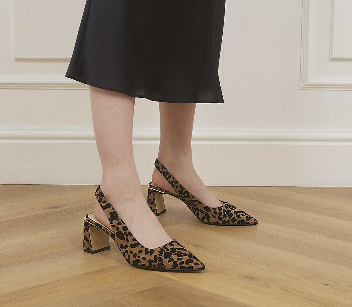 Malvern Pointed Toe Court Sling Back Heels