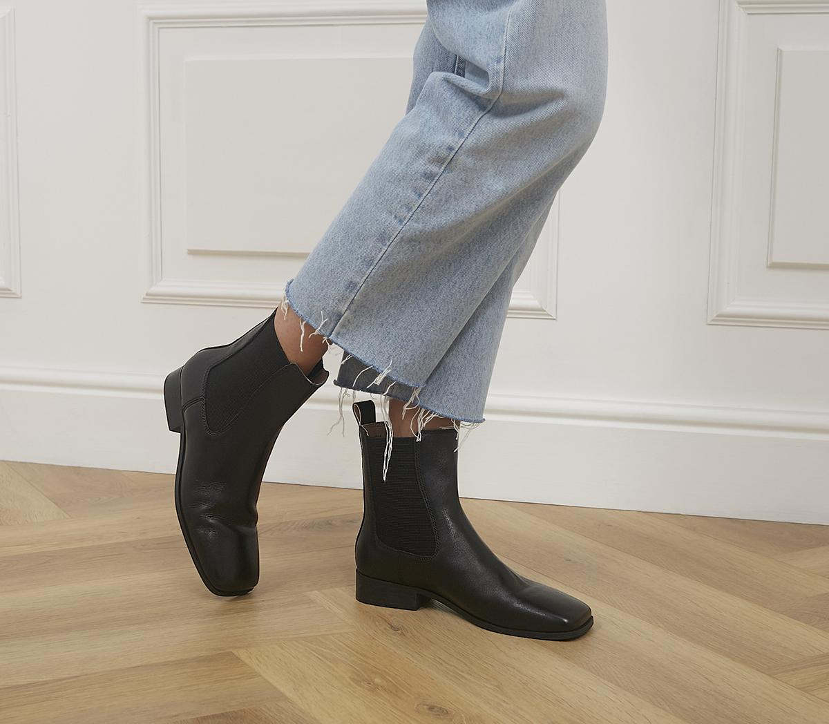 Angelina Square Toe Formal Chelsea Boots