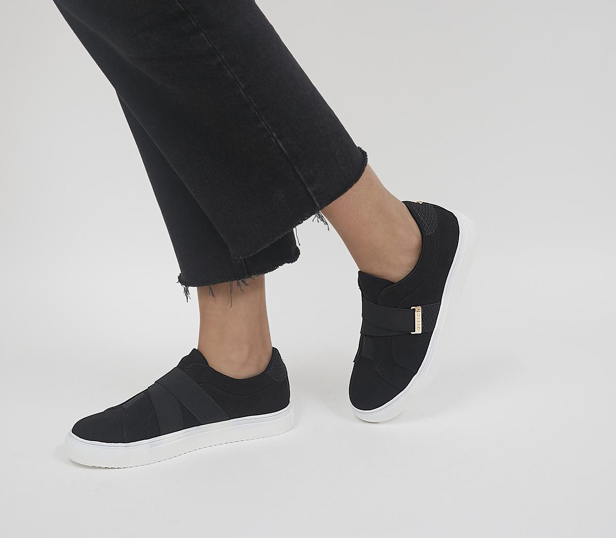 Faintly Double Strap Slip On Trainers