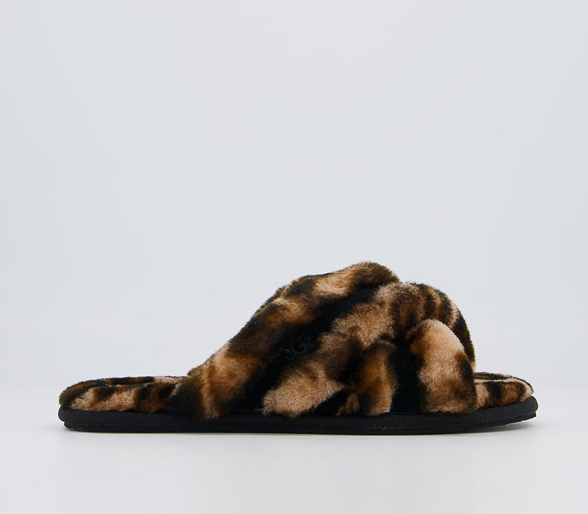 Scuffita Panther Print Slippers