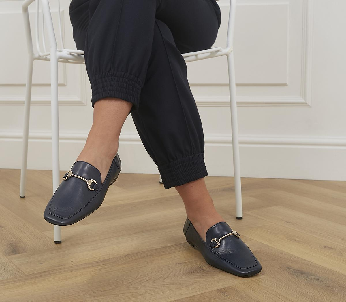 Fondly Square Toe Snaffle Loafers