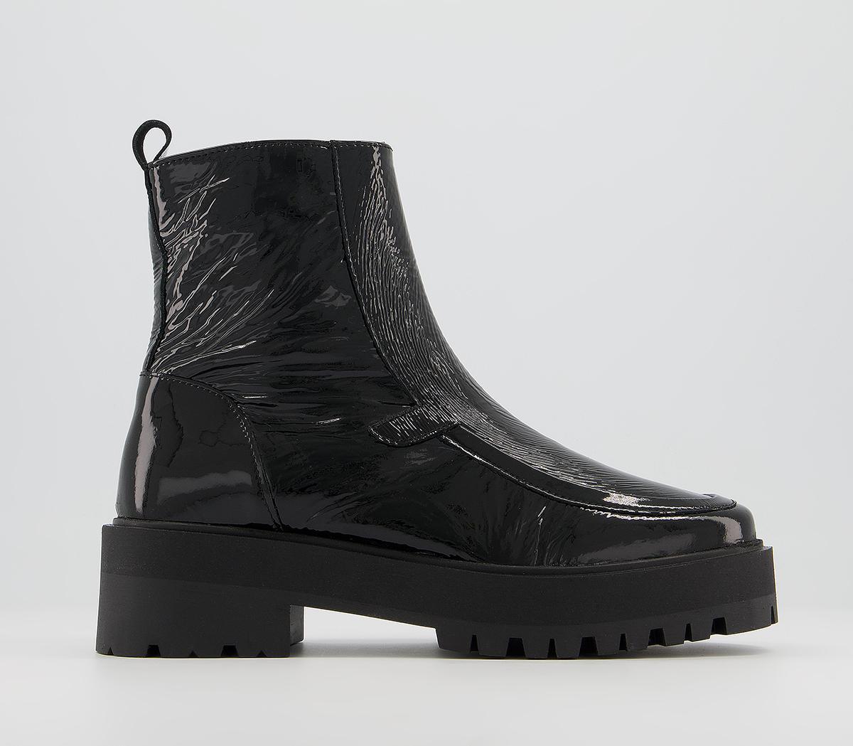 Aurora Saddle Unlined Crinkled Square Toe Boots