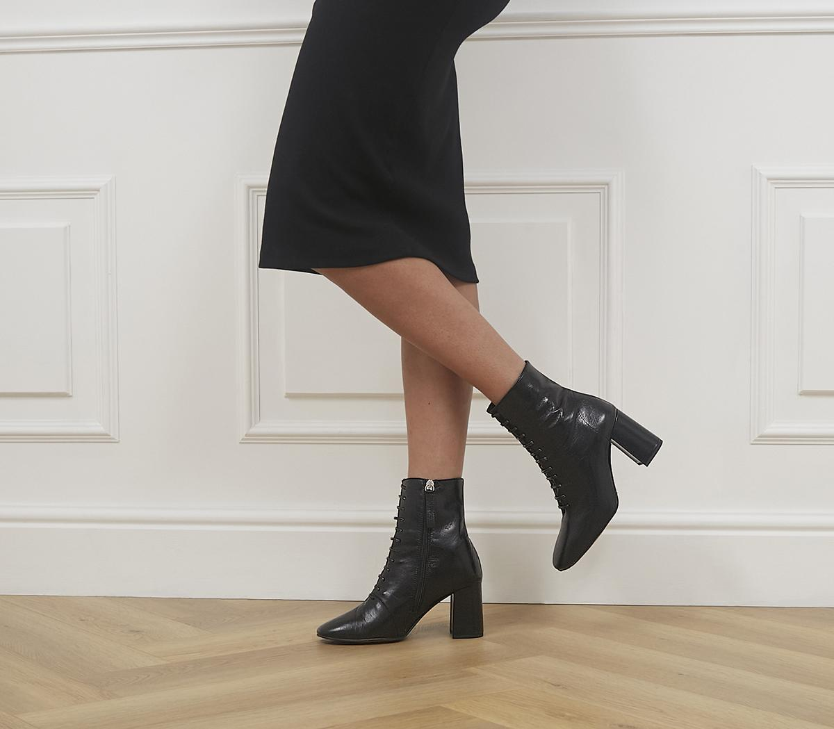Affiliate Lace Up Dressy Square Toe Boots