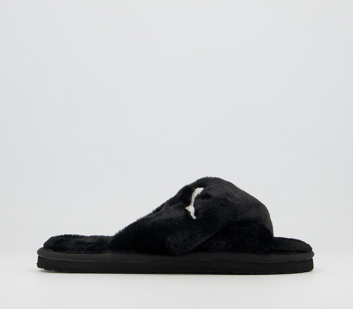 X Fluff Slide Slippers