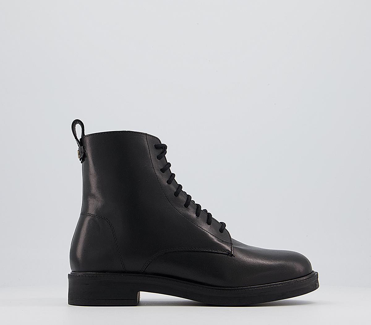 Advertise Chunky Smooth Sole Lace Up Boots