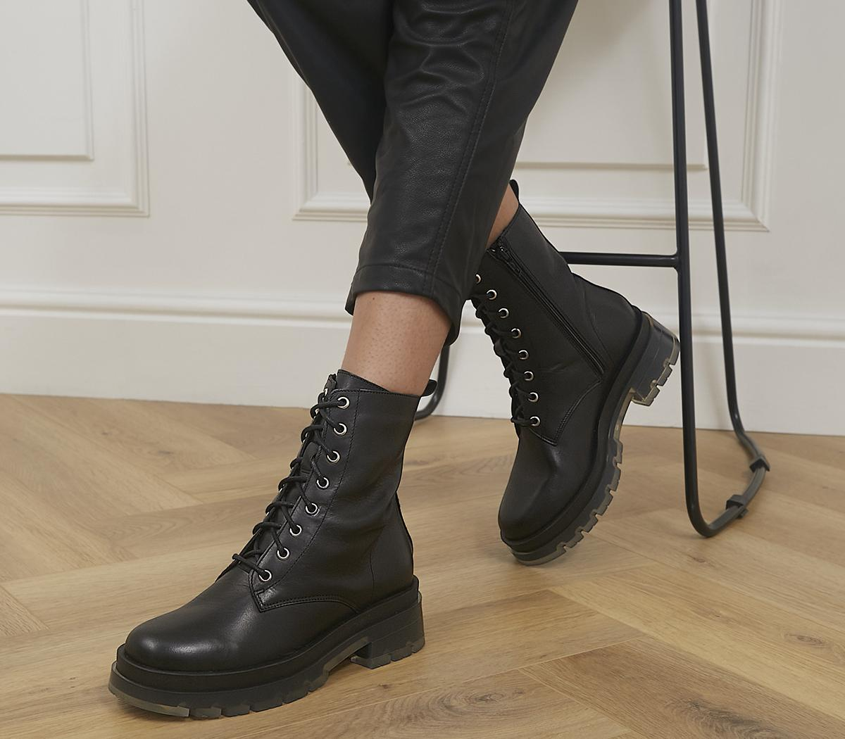 Animate Clear Sole Lace Up Boots