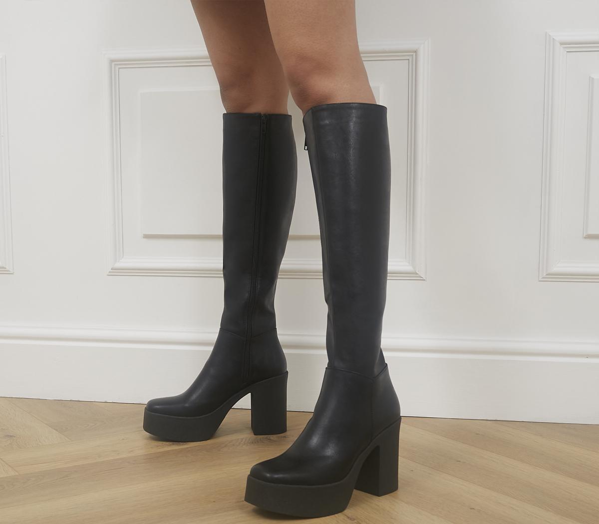 Slick Nicks Knee Hight Platform Boots