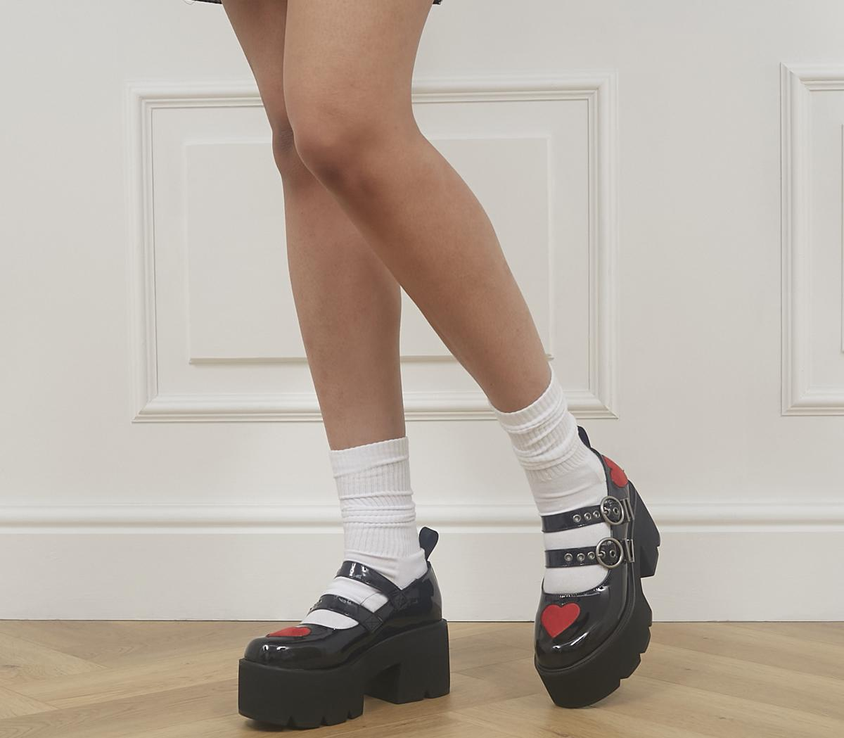 Darling Dear Chunky Platform 2 Strap Shoes