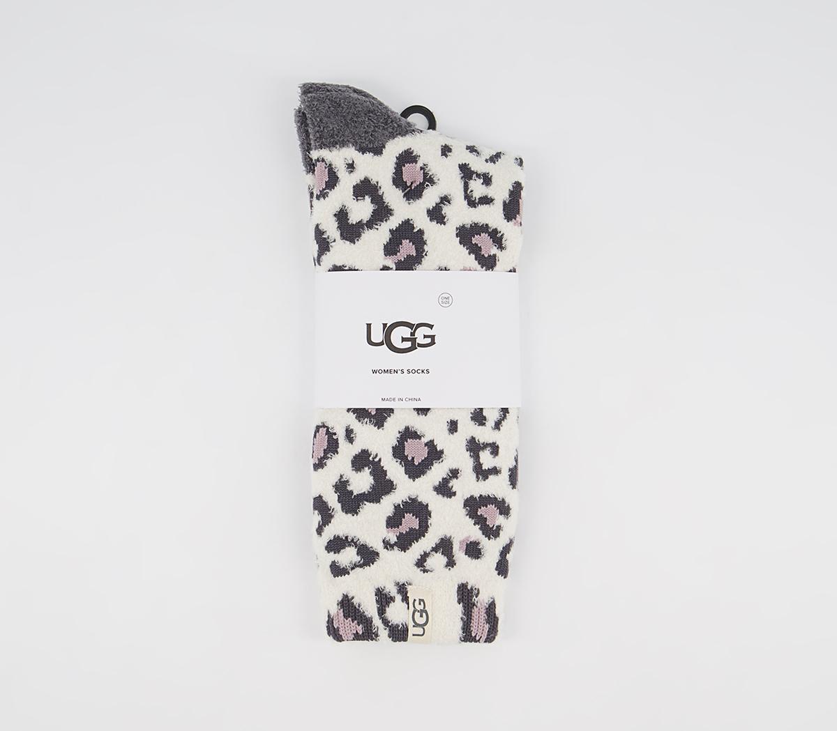 Leslie Graphic Crew Socks