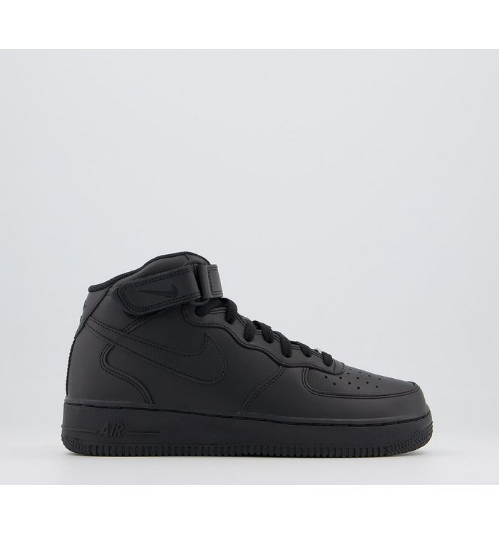 Nike Air Force 1 Mid Gs Trainers BLACK,Black
