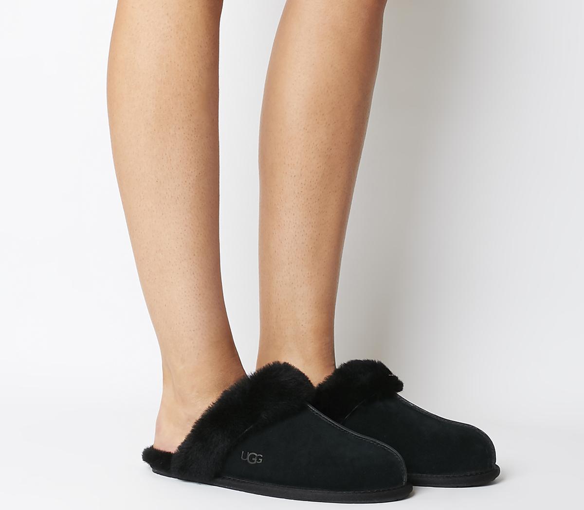 UGG Scuffette II Slippers Black Mono