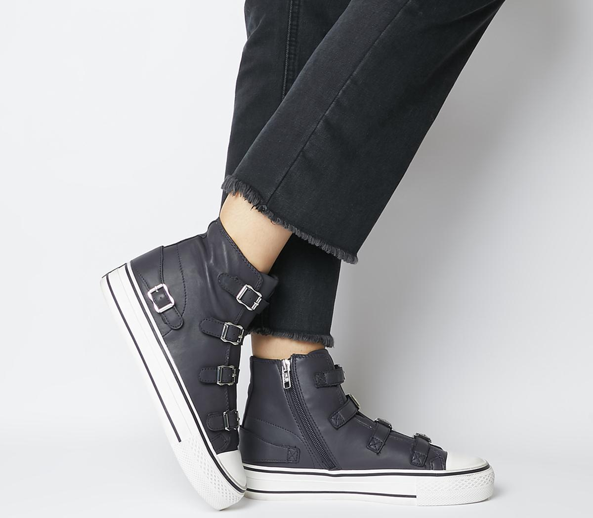 Ash Virgin High Top Trainers Graphite