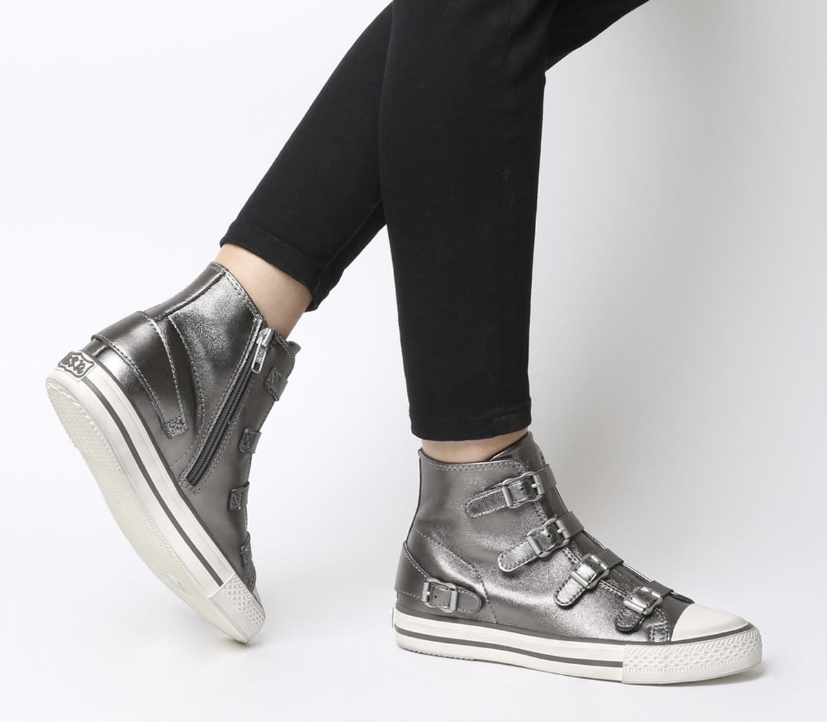 Ash Virgin High Top Trainers Stone