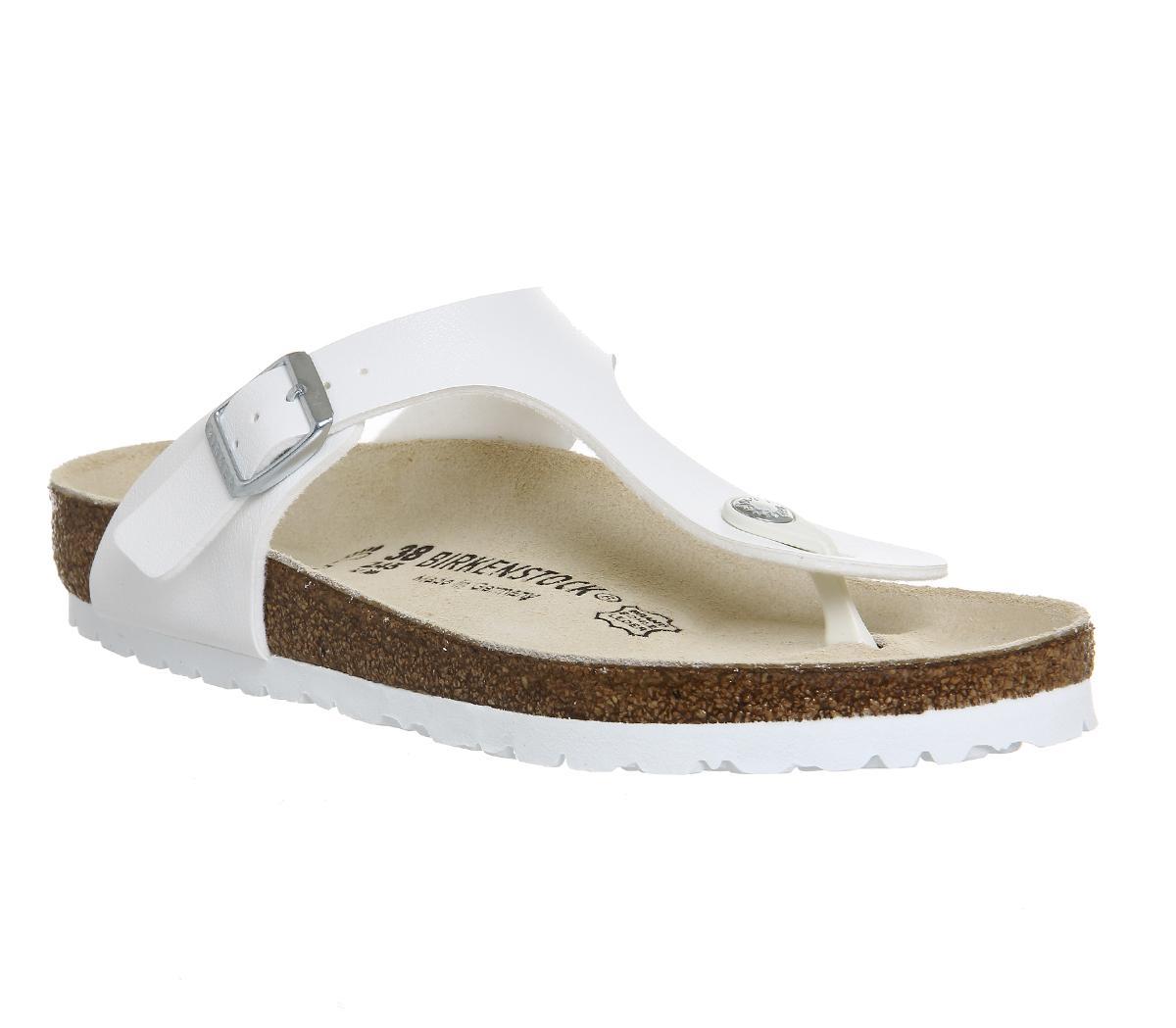 white birkenstocks on sale