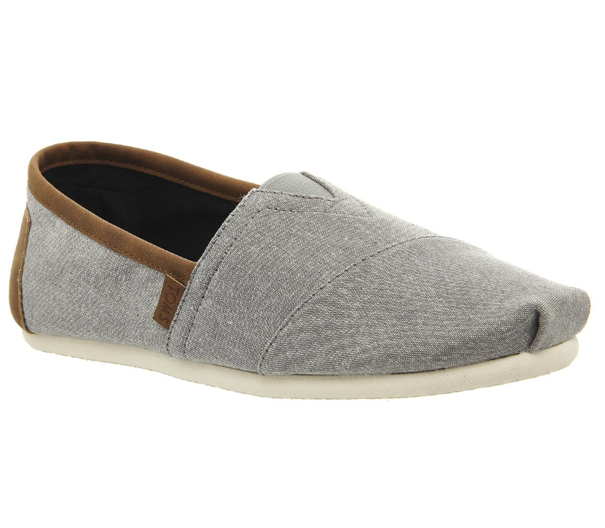 Toms Classic Slip Ons Frost Grey
