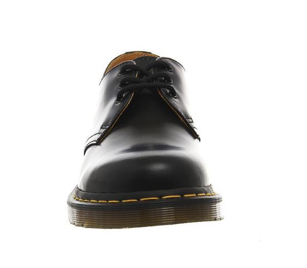 Dr. Martens 3 Eye Lace Shoes Black Leather - Smart lp8mN88