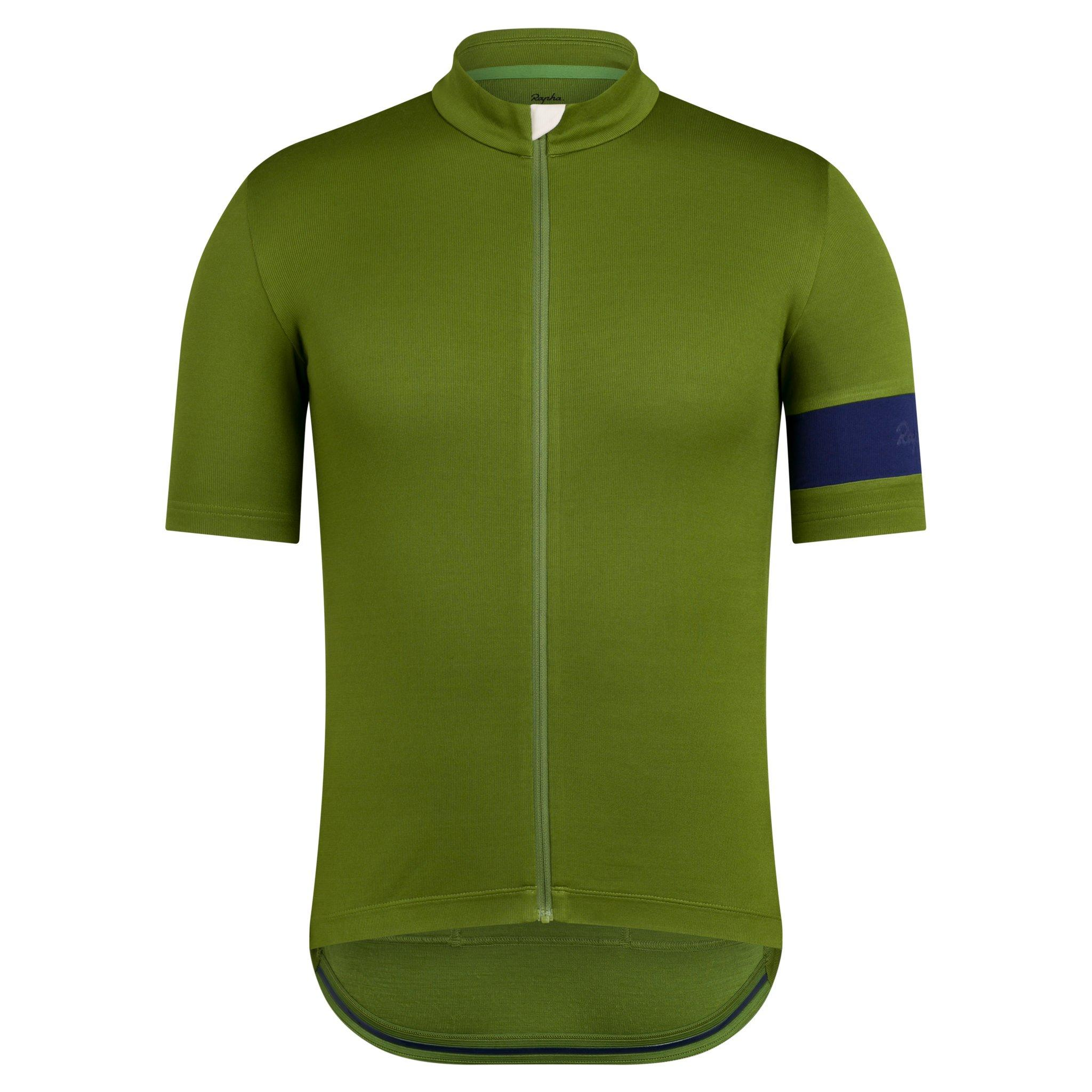 Rapha Men/'s Classic Jersey II Rose Dark Green Size Large Brand New With Tag
