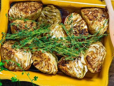 Grilled Beer Cabbage