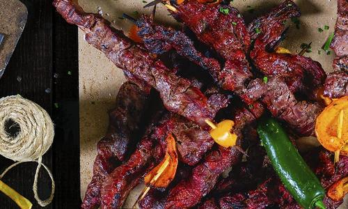 Asian-Style Grilled Beef Skewers