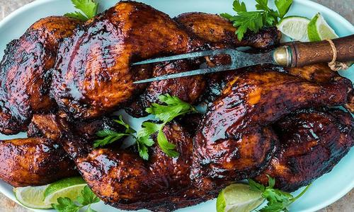 Ancho-Chili Smoked BBQ Chicken Legs